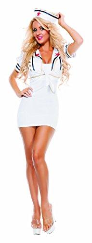 Starline Women's Shore Thing Sailor Shrug Set, White, One