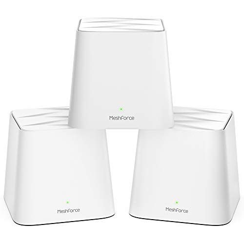Meshforce M1 Whole Home Mesh WiFi System (3 Pack) - 2020 Upgraded WiFi Performance -Dual Band Wireless Mesh Router- Max WiFi Coverage 6+ Bedrooms (3 Pack)