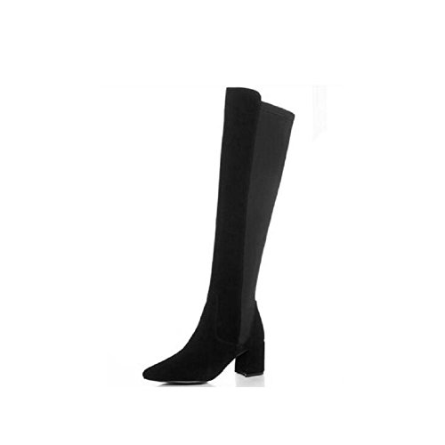 Stylish Stitching Elastic Stretch Boots Thigh High Over The Knee Women's Bootie 39 a88ZWHwq9k