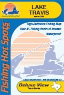 Lake Travis Waterproof Fishing Map (Texas Fishing Map Series, L713)