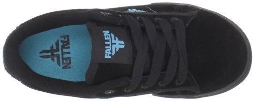 Fallen BOMBER Youth 43070011 - Zapatillas de skate de ante para niños Negro (black/cyan)