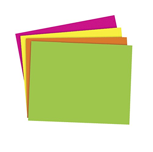 Board Blue Poster - School Smart Poster Board, 11 x 14 Inches, Assorted Neon Color, Pack of 25