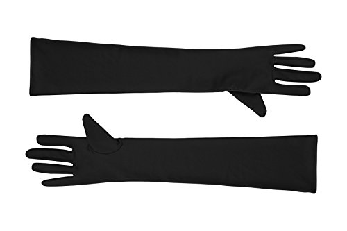 - Sheface Spandex Elbow Length Long Gloves Costume Accessory (One Size, Black)