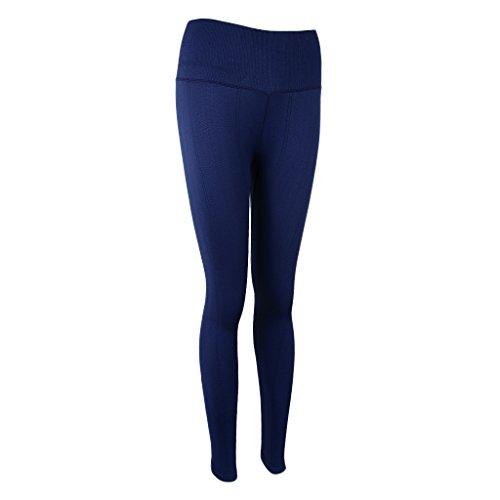 Magideal Pantalones de Mujer Deportes Entrenamiento Gimnasio Atlético Yoga Polainas Vacaciones Luau azul marino
