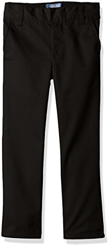 Cherokee Dress Pants (CHEROKEE Big Boys' Uniform Relaxed Fit Twill Pull On Pant, Black, 10)