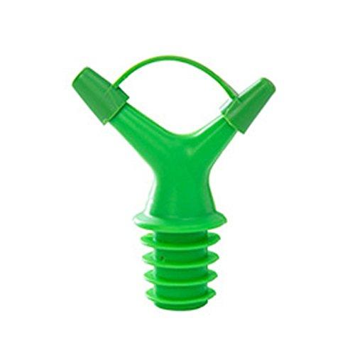 Clearance Sale!DEESEE(TM)Double Head Leakproof Soy Sauce Bottle Mouth Stuffed Vinegar Bottle Stopper (Green) by DEESEE(TM)_Home (Image #1)