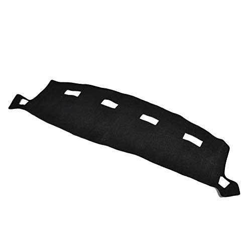 Facaimo Black Dashboard Cover Dash Cover for Dodge Ram 1500 2500 3500 2002-2008 Dashmat Dashboard Mat Carpet, Custom Fit Easy Installation (2007 Dash Ram 1500)