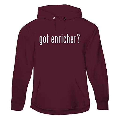 got enricher? - Men's Pullover Hoodie Sweatshirt, Maroon, Large (Pure Enrichment Ultrasonic Cool Mist Humidifier Red Light)