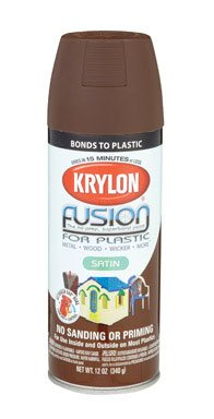 Krylon Fusion For Plastic Paint Satin Espresso - Lot of 6 ()