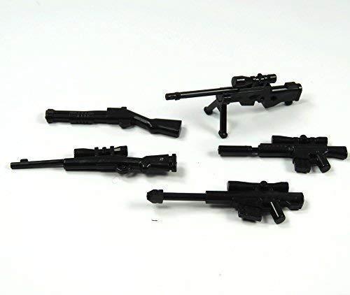 BrickGun Custom Swat Policía Set de Armas Francotirador 6 Piezas para Figuras Lego