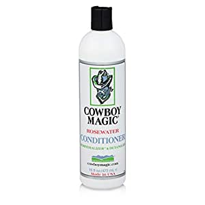 Cowboy Magic Rosewater Conditioner REVITALIZES AND DETANGLES 16 Ounce