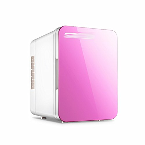 HOMEE @ Car Refrigerator 4L Car Home Dual-Use Refrigeration Small Home Dinette Mini Fridge Cold and Cold Box Refrigerator,Pink,4L