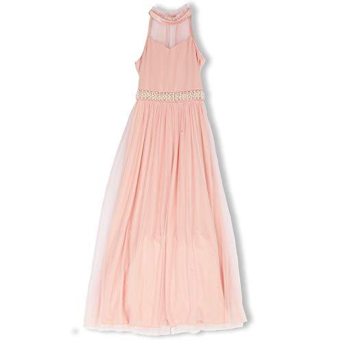 Speechless Big Girls Full Length Maxi Dress with Illusion Yoke, Blush,
