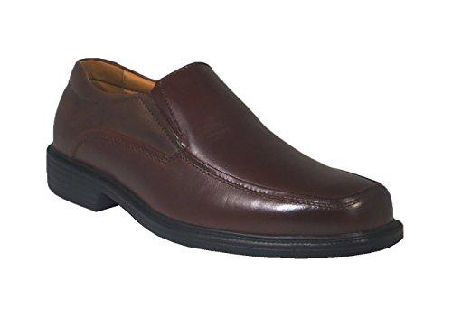 La Milano Heren Bruin Lederen Comfortabele Kleding Schoenen Breed Eee # A1720