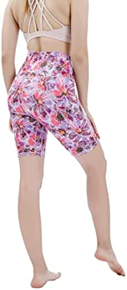 PATTERN HOUR Women 's Biker Shorts with Pockets, Tummy Control Yoga Shorts, High Wasit Workout Running Ti