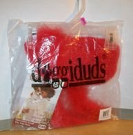 Doggiduds Red Sparkle Knit Sweater with Boa Scarf for XXS