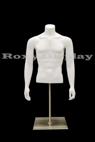 Headless Mannequin ((MD-EGTMSABW) ROXY DISPLAY Table Top Headless Male Mannequin Torso With nice figure and arms.)