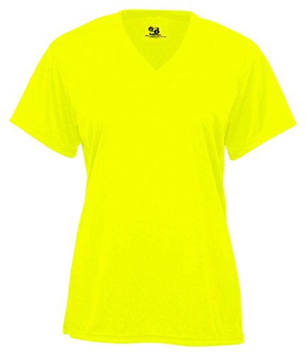 Badger - Ladies' B-Core V-Neck Tee - 4162 - S - Safety Yellow