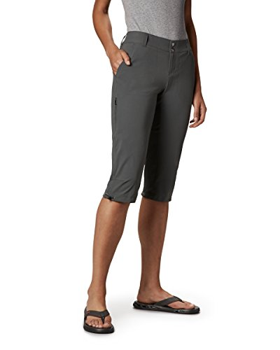 (Columbia Women's Saturday Trail II Knee Pant, Water & Stain Resistant,Grill,4 X 18