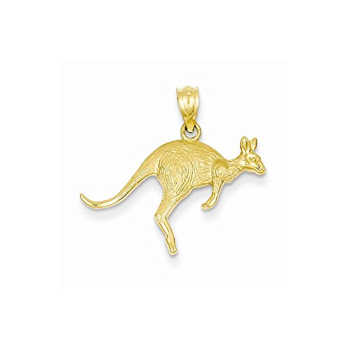 Perfect Jewelry Gift 14k Yellow Gold Textured Kangaroo Pendant