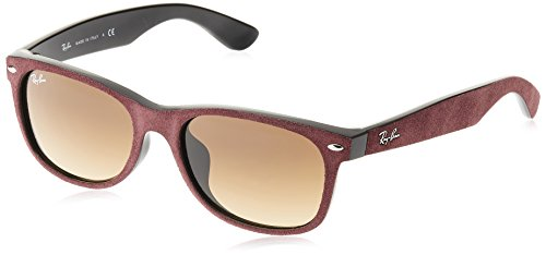 Ray-Ban NEW WAYFARER RB2132F Sunglasses 624085-55 - Black/top Bordo' Alcantara Frame, - Ban Frame Ray Small Wayfarer