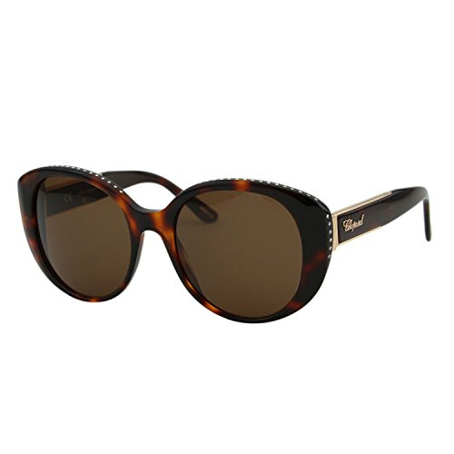 Chopard Imperiale SCH 191S Women Brown Crystal Embellished Butterfly Sunglasses ()