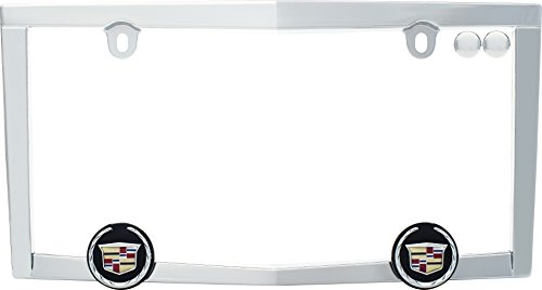 Cruiser Accessories 10330 Cadillac License Plate Frame, Chrome w/fastener caps