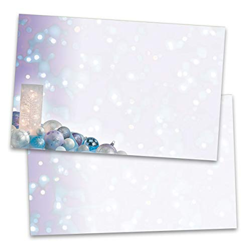 Frosted Votive Postcards, Silver Foil Accents, 50 Count, Jumbo 5½ inch x 8½ inch