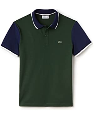Men's Green Men's Polo With Contrast Sleeves in Size 5-L Green
