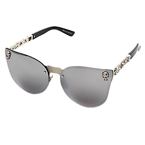 Shiratori Sunglasses for Men Women, Classic Rimsless Eyewear with Case, 100% UV Protection ()