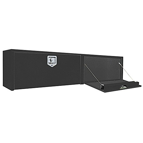 Top Side 96 Box - Buyers Products Black Steel Topsider Truck Box w/ T-Handle Latch (16x13x96 Inch)