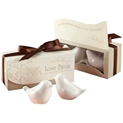 Kate Aspen Lovebirds in The Window Ceramic Salt and Pepper Shakers, Set of 6