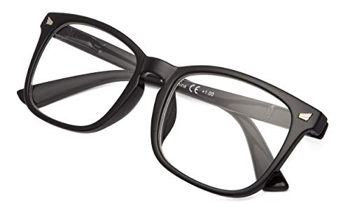 Fashion Ladies Readers Stylish Reading Glasses Women Clear Lens Black Frame ()