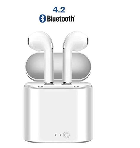 Bluetooth Wireless Headphone,Stereo Sport Headphones in-Ear Shin Magnetic eadset Earphone with Portable Charging Dock and Microphone for Smart Devices
