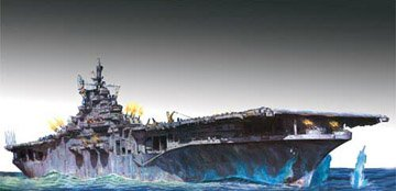 Lindberg 1/525 USS Yorktown Aircraft Carrier Ship Model Kit