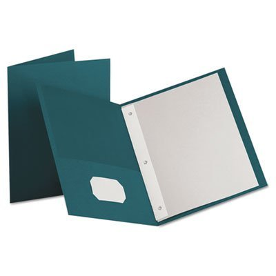 (Twin-Pocket Folders with 3 Fasteners, Letter, 1/2