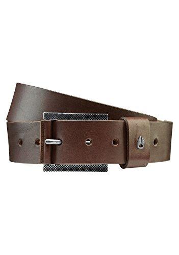 Nixon Americana Leather Belt Dark Brown Men's Large 33-36