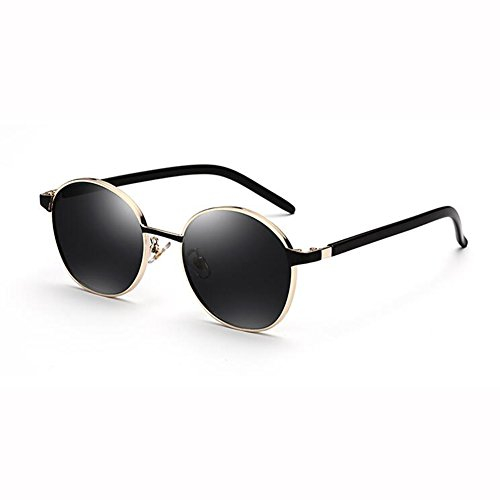 WX Beat Estilo Gafas 2 Cara Hipster 3 Color Harajuku De xin Redondas Sol Gafas Retro Pequeña Hembra Street rwrqR7