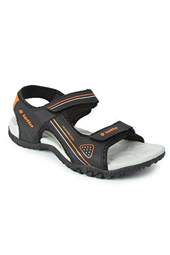 3d2b7eff2e25 Lotto Men s Black Orange Sandals-8 UK India (42 EU) (8907181454450)  Buy  Online at Low Prices in India - Amazon.in
