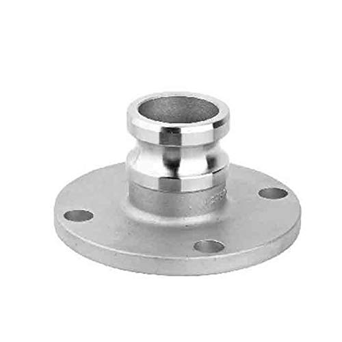 Maslin 1pc 1/2''-2'' 304 Stianless Steel Type F with Flange Camlock Fitting Cam and Groove Coupler - (Color: DN50)