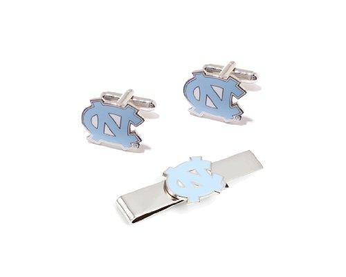 NCAA North Carolina Tar Heels Cufflinks and Tie Bar Gift Set
