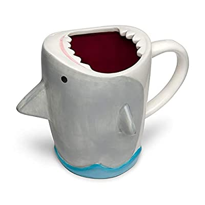 ThinkGeek, Inc. Shark Attack 12oz Molded Ceramic Mug