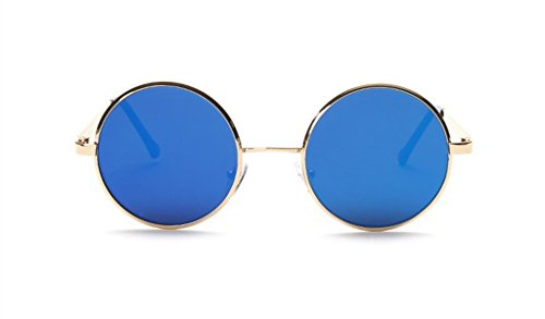 The Big Retro Sunglasses Metal Frame Tide Colorful Round The - Glasses Frame Gold Cartier