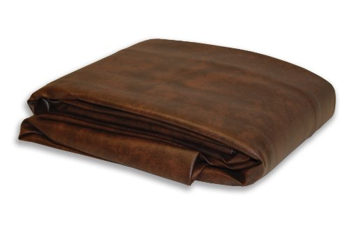 (Empire USA Deluxe Dark Brown Fitted Leatherette Pool Table Cover (7Ft))