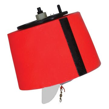 American Bandit 83156 Chemical-Resistant Unbreakable Foam Marker Buoy with 200-Feet of Internal Line Stored, Red Finish