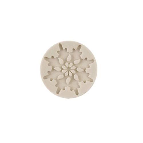 lightclub Christmas Snowflake Silicone Mold Fondant Cake Chocolate Decoration DIY Mould 3# -
