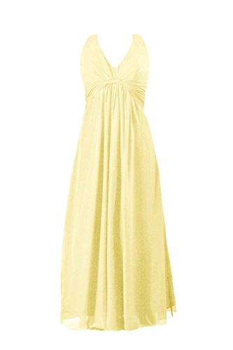 Daisyformals Robe Longue En Mousseline Licol Robe De Soirée Robe De Dame (bm414) N 24 Banane