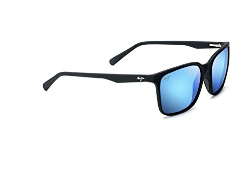 Maui Jim Unisex Wild Coast Matte Black/Blue Hawaii One - Blue Maui Jim