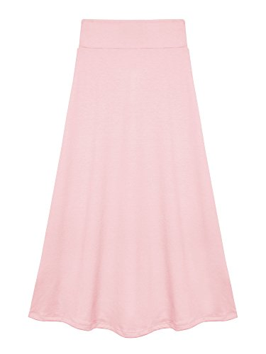Price comparison product image Bello Giovane Girls 7-16 Years Solid Maxi Skirt (Small, Baby Pink)