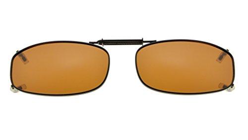 Eyekepper Metal Frame Rim Polarized Lens Clip On Sunglasses 1 7/8